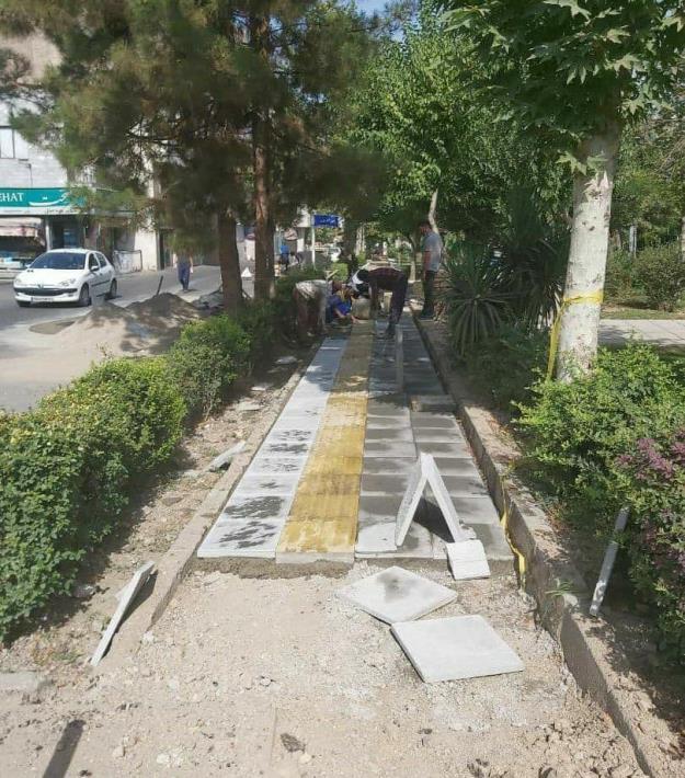 بهسازی و ایمن سازی حدود ۶۰۰۰ متر از پیاده روهای شمال شرق تهران
