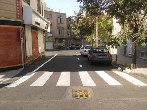 ایمن سازی معابر و کانالیزه کردن مسیر حركتی عابران پیاده در منطقه ۱۳