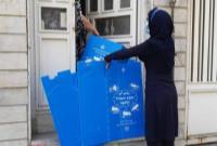 اجرای هوشمندانه طرح جداسازی زباله از مبداء در منطقه ۴/ توزیع مخازن زباله به مجتمع های مسکونی و اداری در منطقه ۴