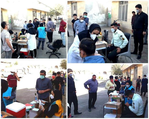 اجرای طرح واکسیناسیون کووید۱۹ ویژه کارگران اتباع در محل اسکان کارگری نواحی ۱، ۲ و ۶ منطقه ۱۶