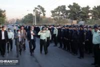 «مانور اقتدار» یگان حفاظت شهرداری تهران با حضور زاکانی